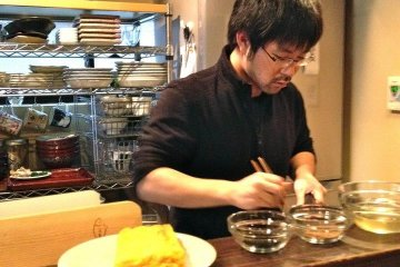 Taro San showcases farm gate to plate cooking and has a personal relationship with his wagyu beef suppliers.