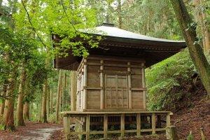 """The """"Kakure-to"""" (hideout pagoda) at Kinpu Shrine"""