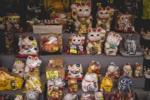 Lots and lots of lucky cats