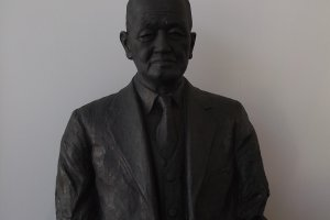 A bust near the entrance, I imagine of the museum's founder