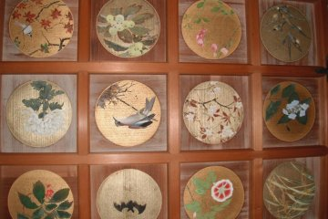 Some of the 100 nature scenes in Reverend Kosanji's mother's room