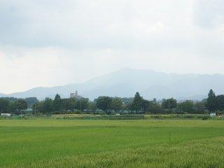 Hanya 1 jam dari Tokyo, kita bisa melihat pemandangan pedesaan di kota Zama ini.