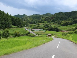 The road leading over the hill and down the tanada