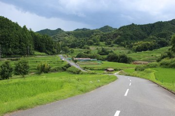 <p>The road leading over the hill and down the tanada</p>