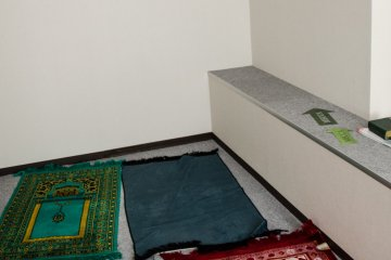 A prayer room can be used with others