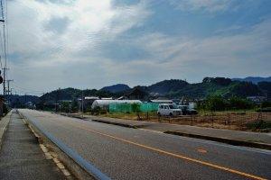 La première route empruntée à Mukaishima