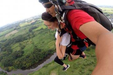 <p>Gliding through the air</p>