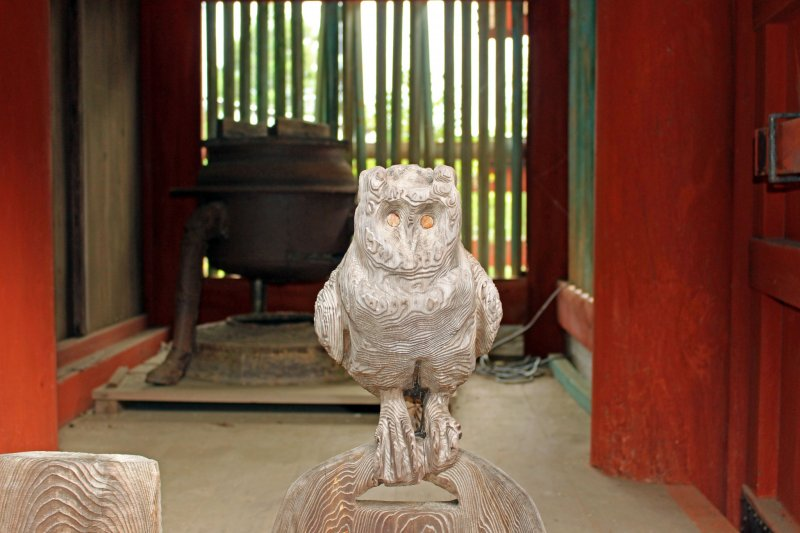 <p>The mysterious owl of Yoshino Mikumari Shrine</p>