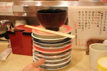 <p>Подсчёт тарелок</p>