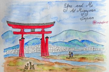 <p>ประตูโทริของเกาะมิยะจิมะ (Miyajima)</p>