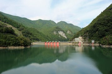 <p>Osako Dam and its reservoir</p>