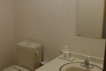 <p>There is a sink and toilet in the room, and the baths are shared on the first floor.&nbsp;</p>