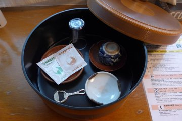 <p>There are cups and tea bags for your use.&nbsp;</p>
