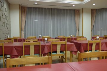 <p>The restaurant is spacious, and where you can have your breakfast and dinner.&nbsp;</p>