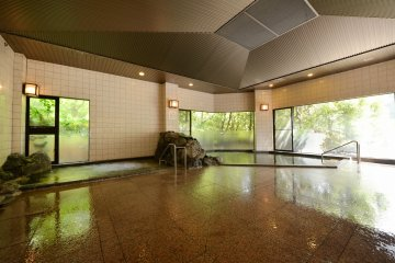 <p>There are two other baths indoors you can relax in as well.&nbsp;</p>
