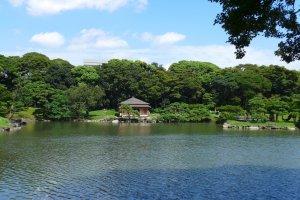 Hamarikyu Gardens has lovely gardens and lakes.