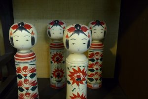 You can also learn a little about the history of these Kokeshi dolls.