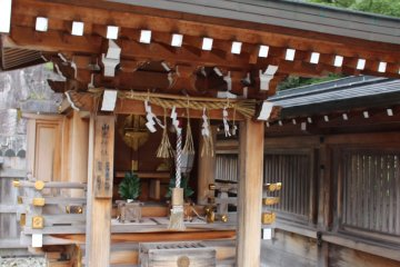 <p>The fifth and possibly second most important god enshrined at Niu-Kawakami Kamisha Shrine is Yamano Kami, a god of the mountains who had two daughters, one who was all things beautiful (but extremely delicate), and one who was all things strong (but very ugly). The fairy tale that goes with Yamano Kami and his two daughters is too long to put in this description</p>