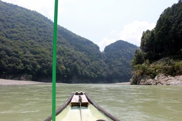 <p>Approaching the rapid</p>