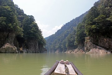 <p>Heading downstream just below the bend</p>