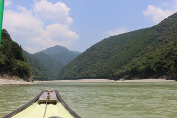 <p>Heading back upstream after running the rapid and turning around</p>