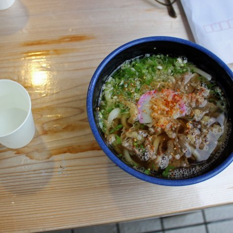 Udon from Sugi-no-Yu Road Station