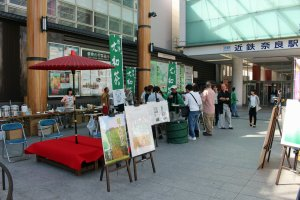 The Appreciation of Yamato Cha event at the Gyoki Hiroba on the east side of Kintetsu Nara Station