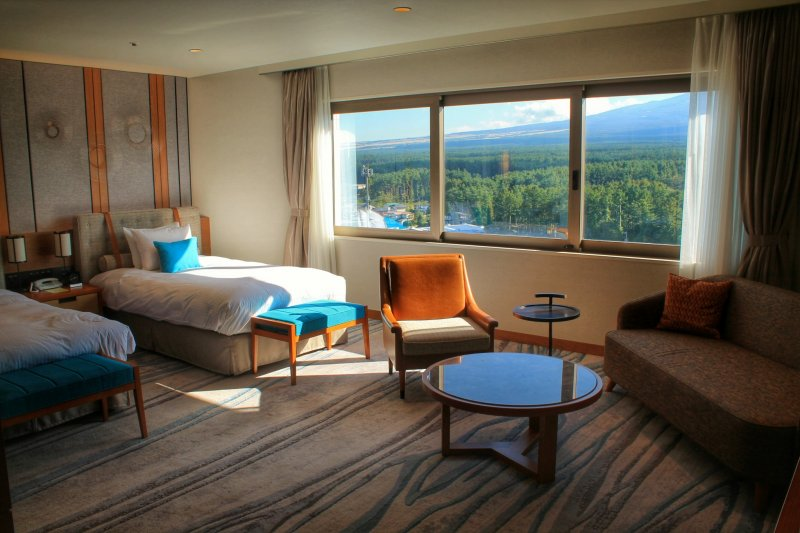<p>The interior of the Grand Executive Floor&nbsp;is designed to match the nature outside</p>