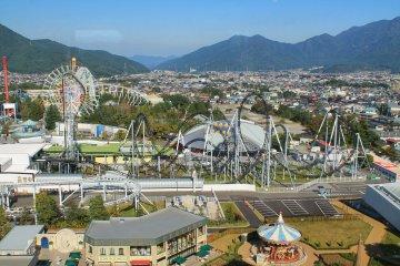 <p>Fuji-Q Highland Amusement Park seen from the top floor of&nbsp;Highland Resort Hotel &amp; Spa</p>