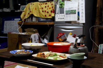 <p>A traditional Japanese mountain meal</p>