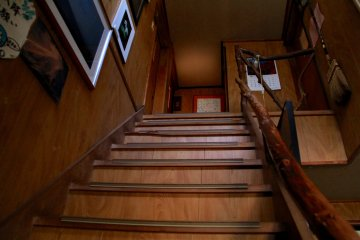 <p>Stairs to some of the rooms</p>