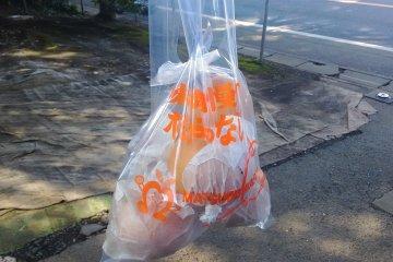 <p>My bag of pears</p>