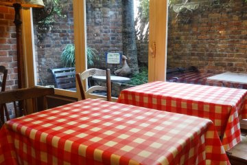 <p>There is also a small terrace for dining outside when the weather is nice</p>