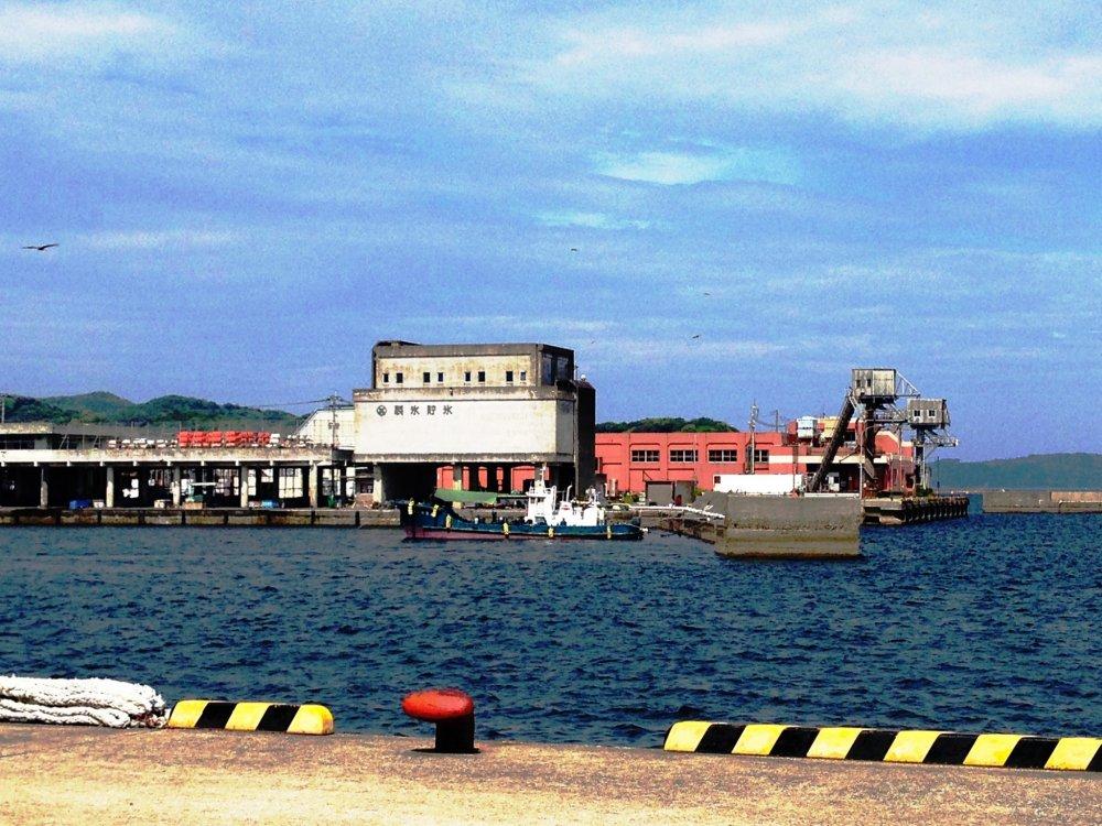 Old buildings atUshibuka Port in Shimoshima, part of the Amakusa Islands.