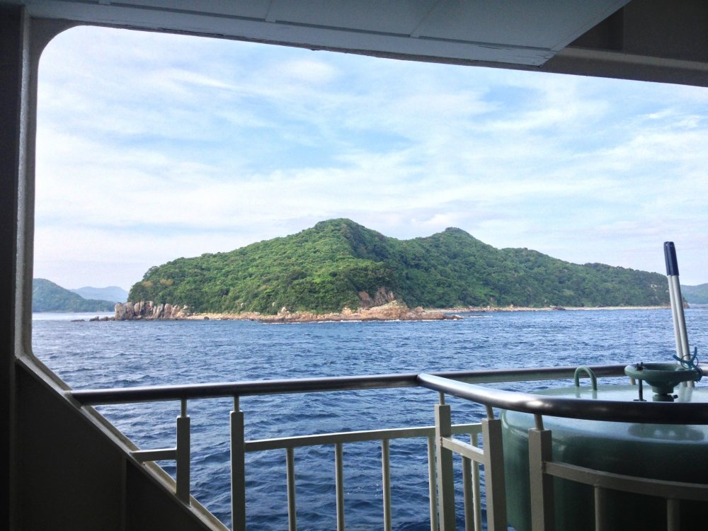 Relax and take in the breeze on the one of the many decks of the ferry.