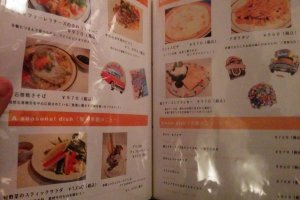 The pictures on the food menu make it very easy to order food after drinking all the delicious cocktails.