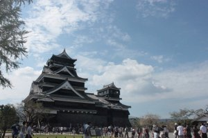 Kumamoto Castle, one of the biggest castles in Japan.