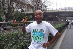 Me just prior to the 2009 Tokyo Marathon