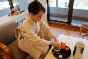 The second teacher prepares the perfect cup of tea