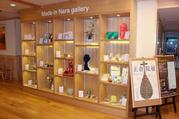 <p>The Made in Nara Gallery showcases locally made arts and crafts</p>