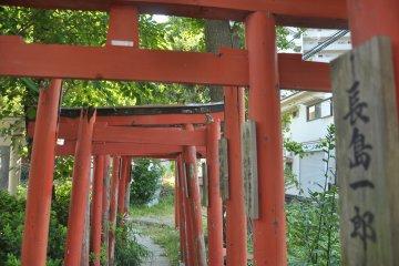 <p>Beautiful installation in the Kanayama shrine</p>