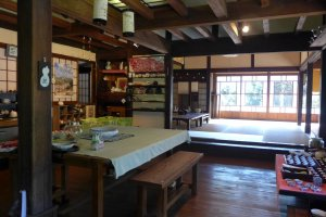 Inside the traditional ryokan