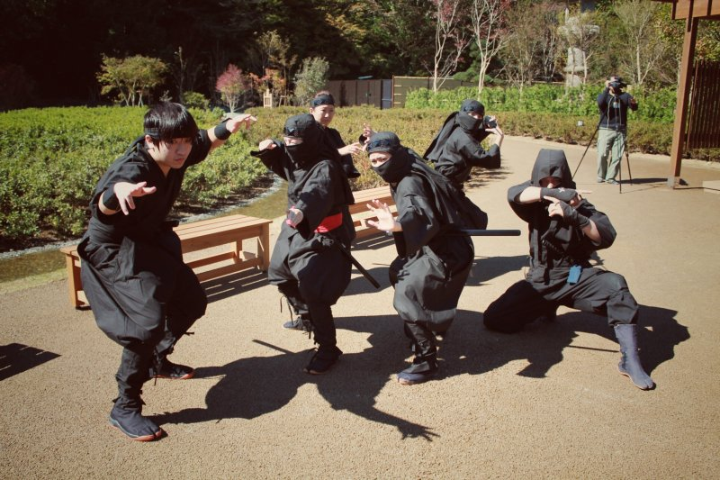 <p>A ninja performance</p>