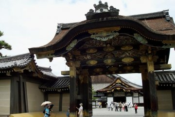 The beautiful Karamon Gate is currently under restoarion and is covered in tarps.  Picture from 2009 before restoration began.