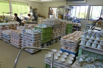 <p>More pottery products at different stages of production</p>