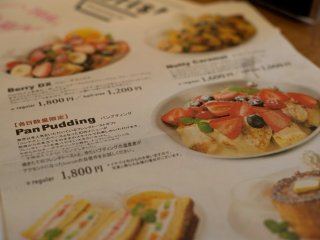 The menu is mostly in Japanese but has pictures to make for easy ordering