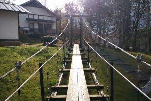 Walking across this bridge requires good balance