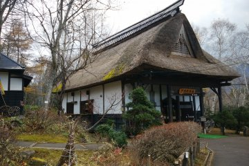 <p>A traditional house next to the entrance doubles as a folk museum</p>