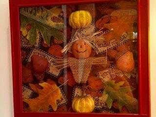 Осенняя вывеска-коллаж