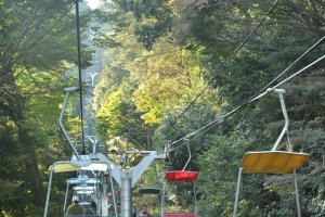 The chair lift is quite old, but quite reliable. and offers a much nicer experience than the cable car